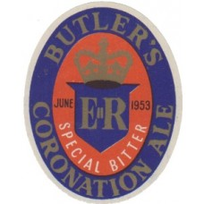 Butlers Coronation Ale Beer Bottle Label