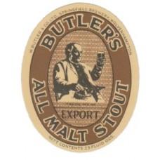 Butlers All Malt Stout Beer Bottle Label