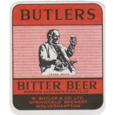 Butlers Bitter Beer Beer Bottle Label