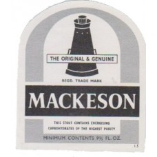 Whitbread Mackeson 9 2/3 Beer Bottle Label
