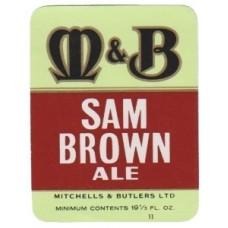 Mitchells & Butlers Sam Brown Ale Beer Bottle Label