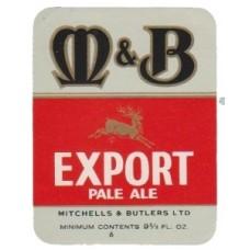 Mitchells & Butlers Export Pale Ale Beer Bottle Label